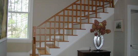 Oak Craftsman Style Stairs